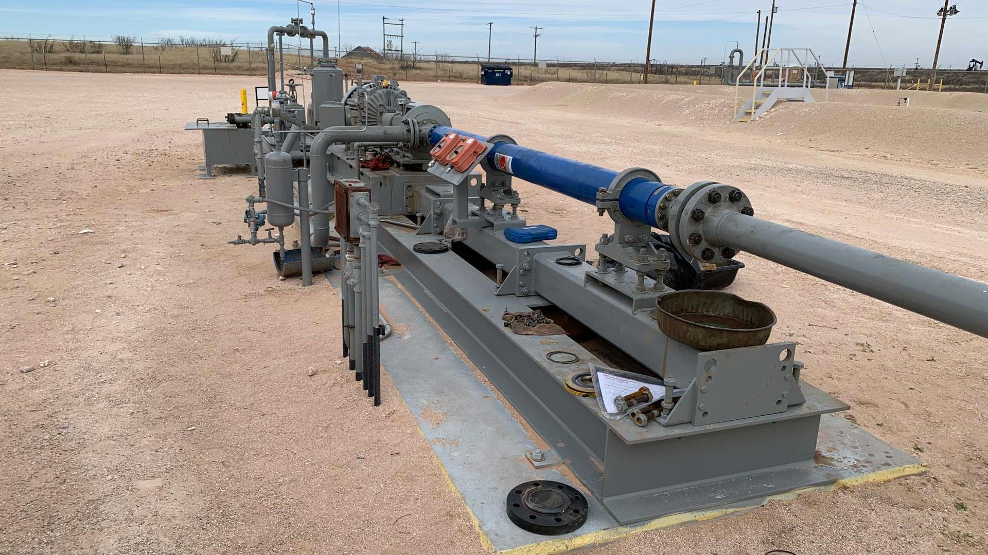 Horizontal Surface Pumping System in the field
