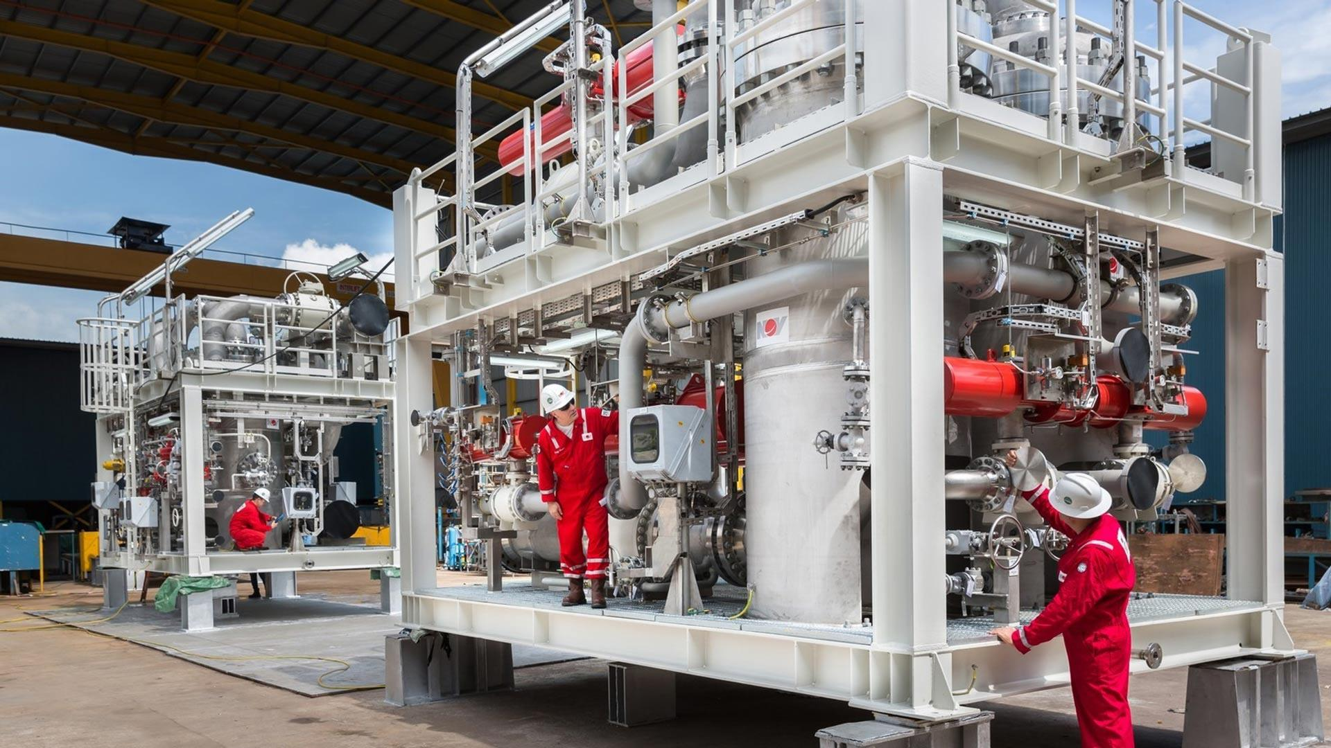 ToreTrap produced water skid