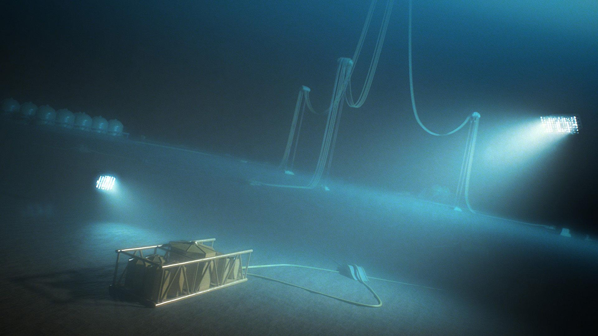 Subsea storage unit for storing chemicals like MEG