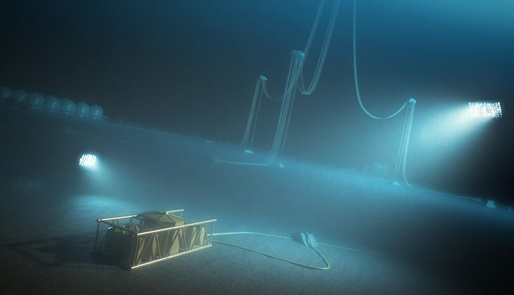 Subsea storage unit for storing chemicals like MEG