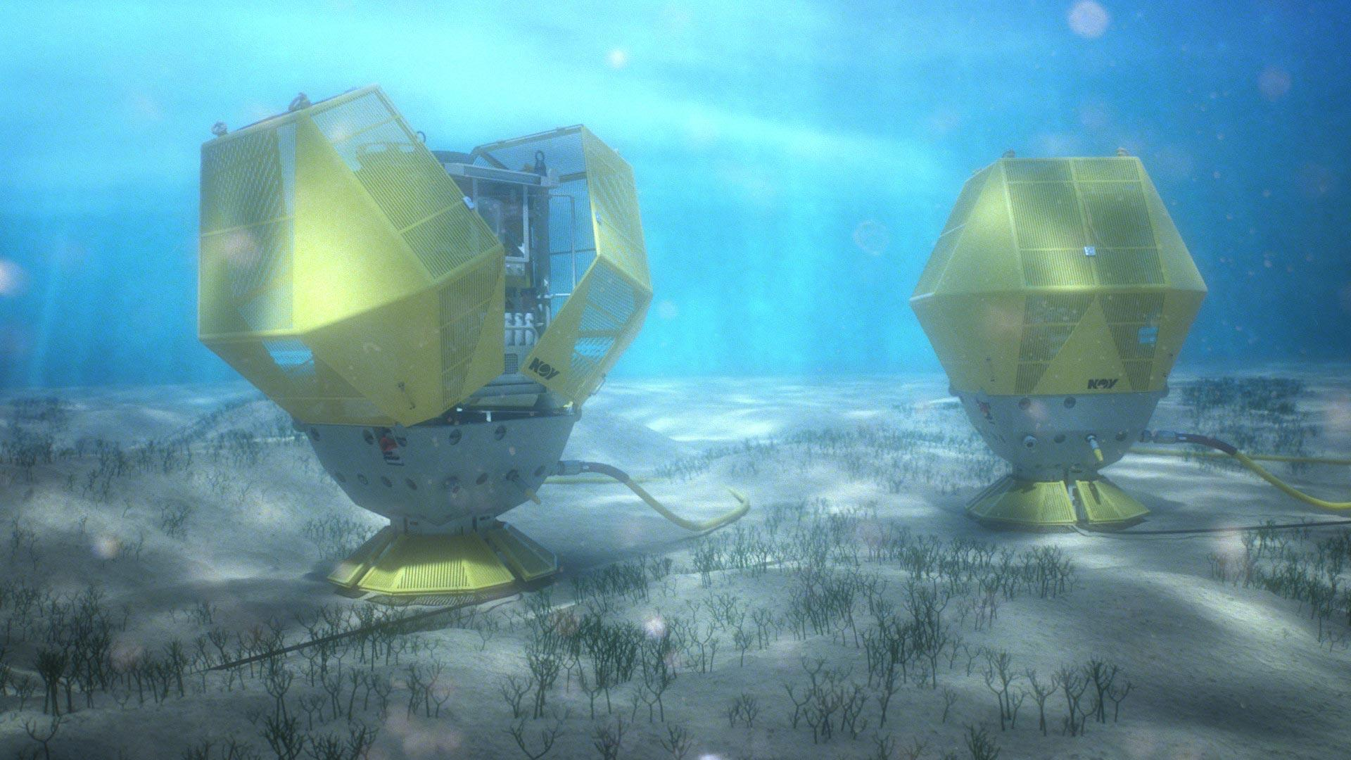 Fiberglass protection covers in shallow water for impact protection subsea