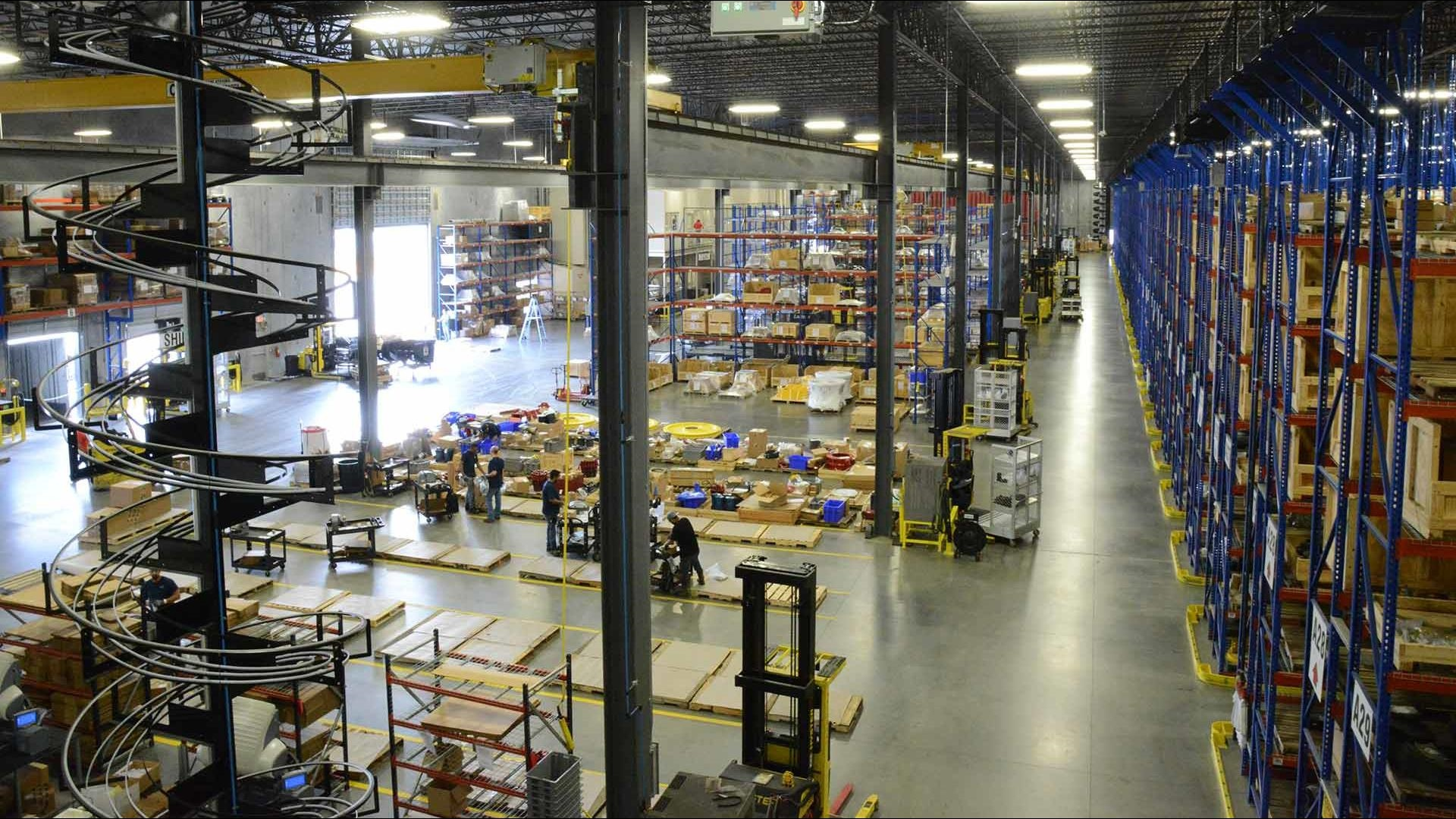 Houston based spares warehouse with over 213,000 square feet of space and dedicated climate-controlled areas.