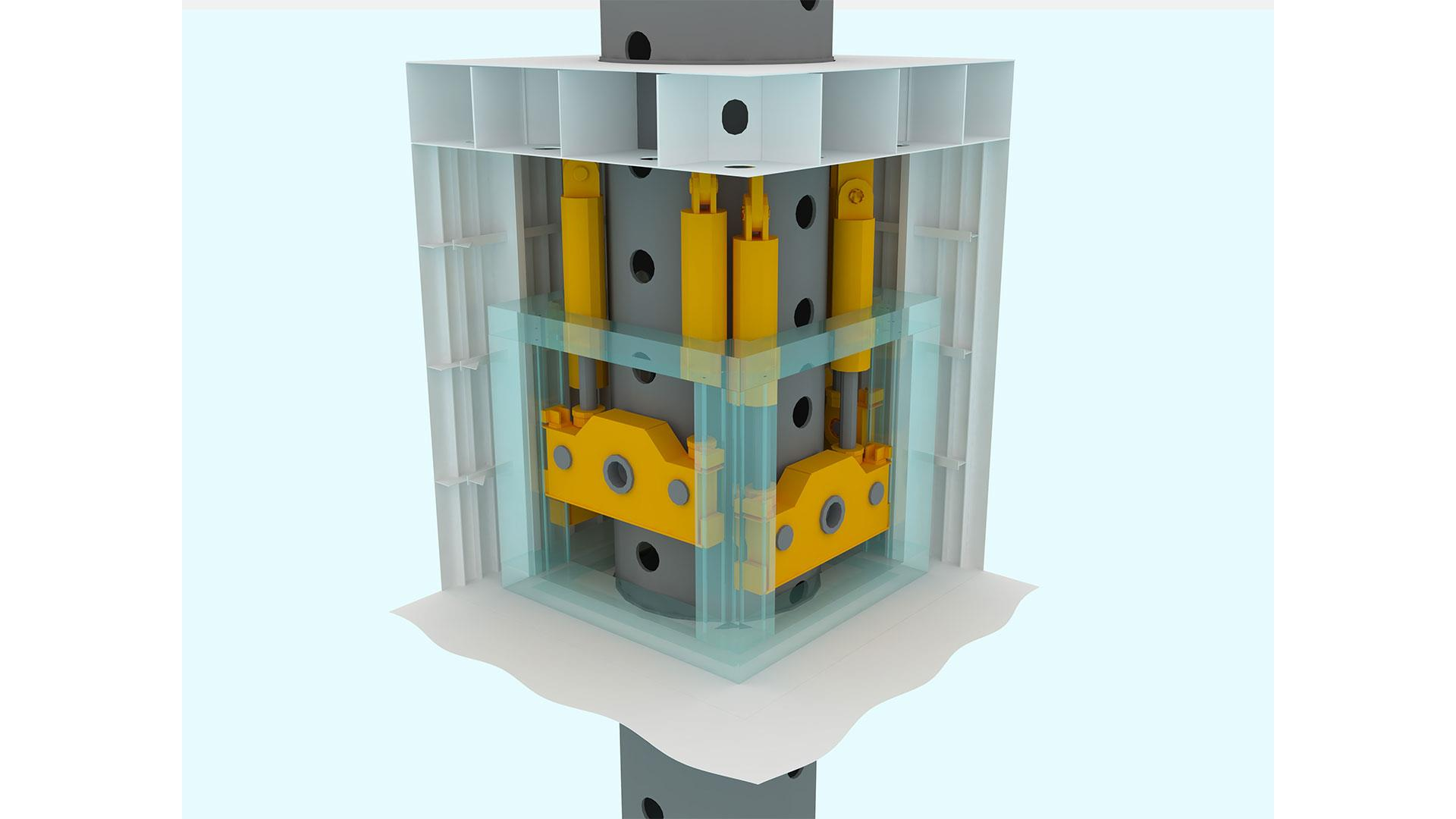 Continuous Hydraulic Jacking System Render