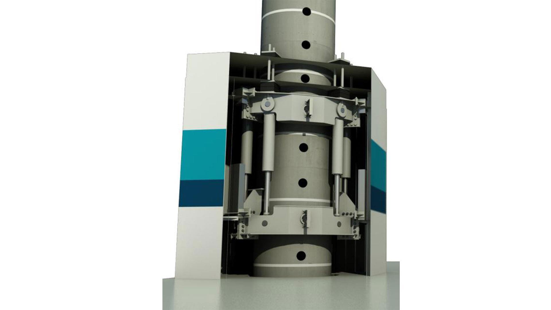 Hydraulic Jacking System Render