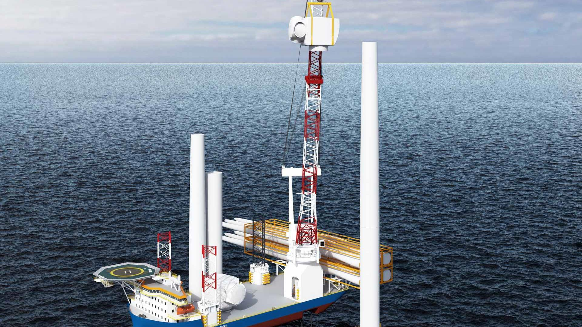 NG8000X offshore windmill installation