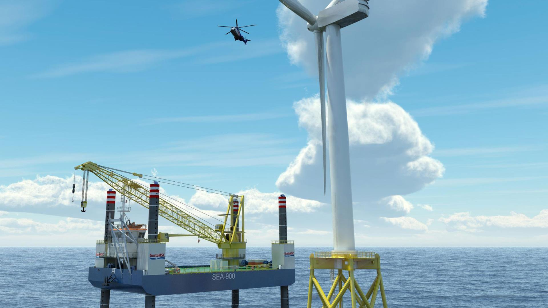 SEA-900 Offshore Windmill installation