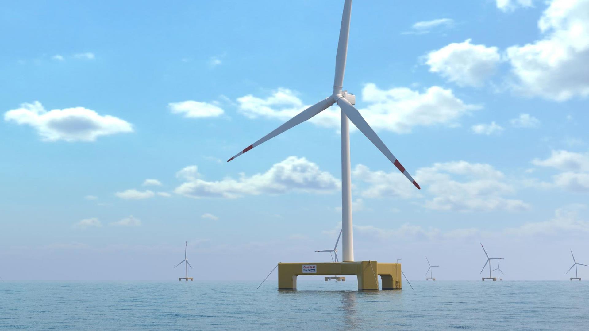 Trifloater offshore floating windmill