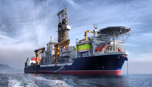 Stena Forth Cylinder rig in the ocean