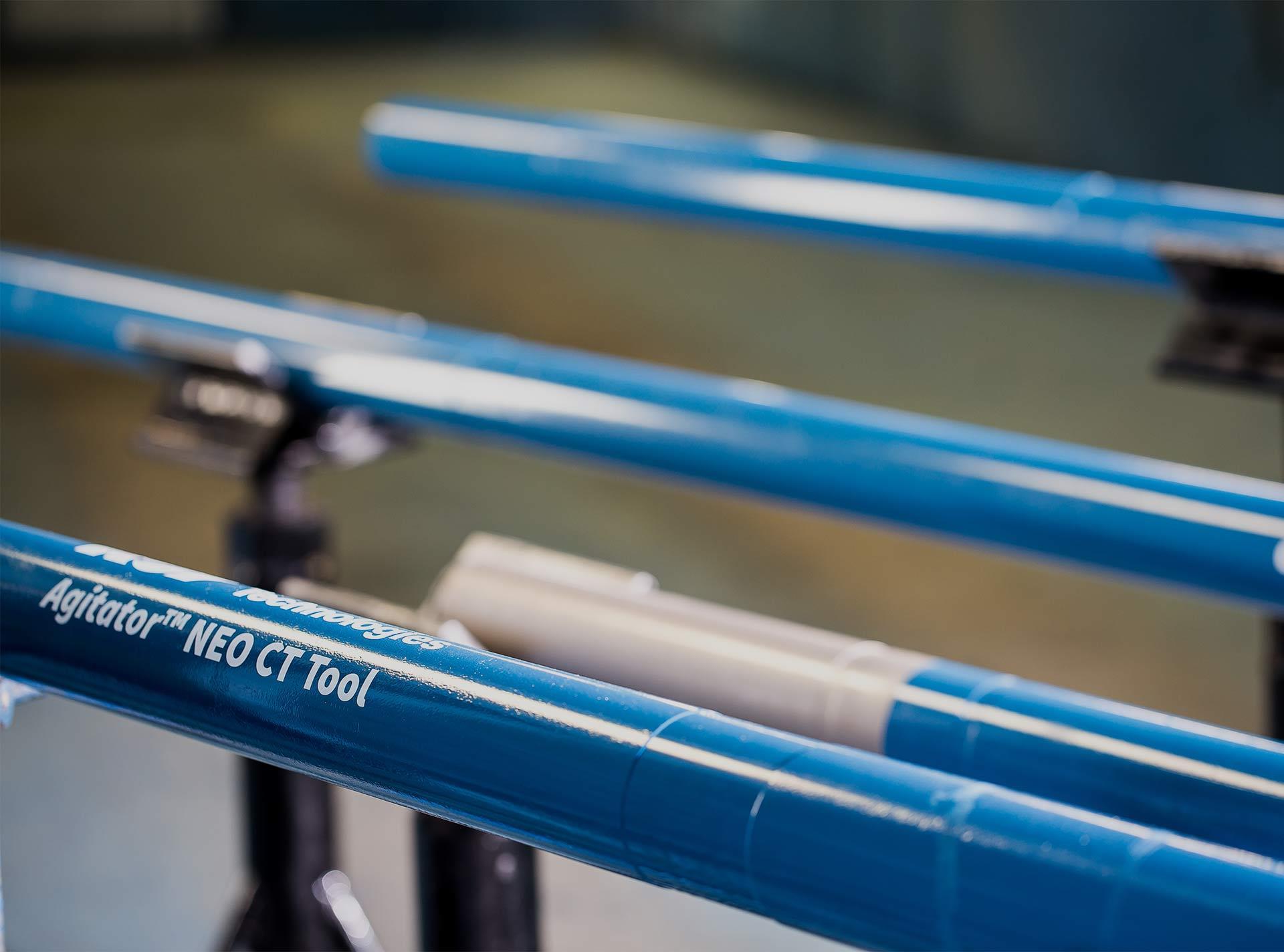 Close up of Agitator NEO Coiled Tubing Tool