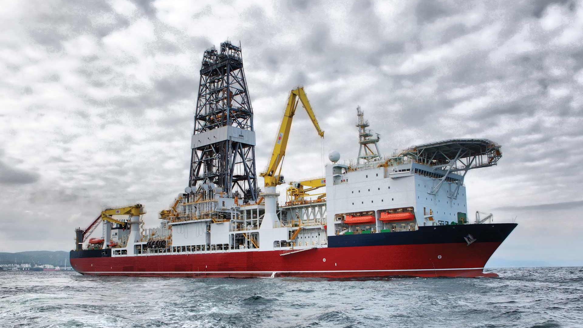 A rig ship on the North Sea