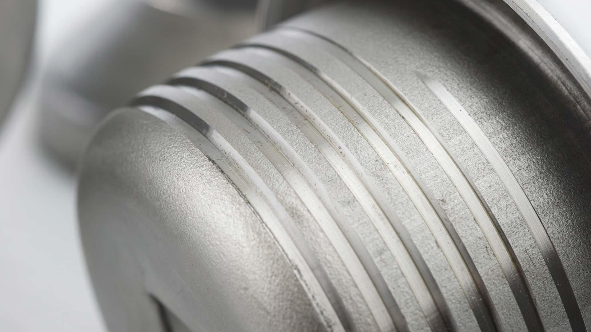 Close up of steel Guardian Drill Pipe Protector