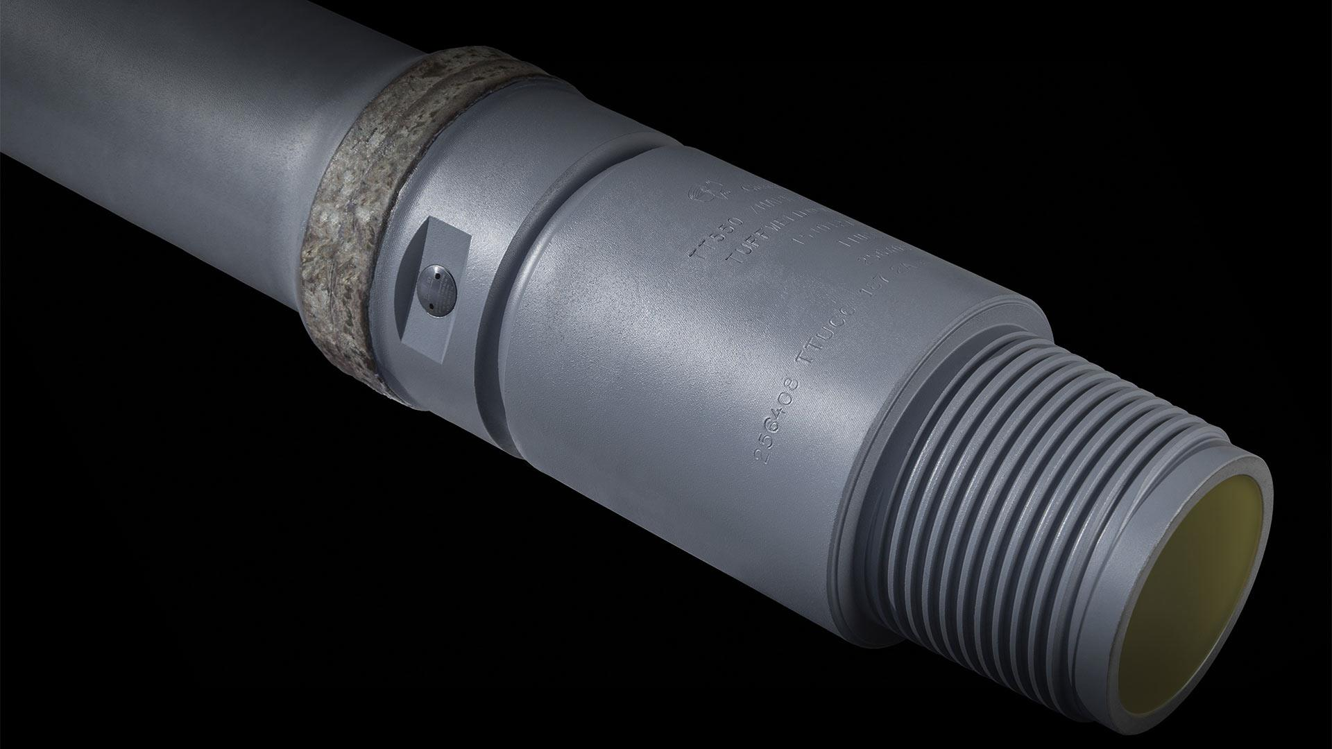 A render of a TracID Pipe with HB and Internal Coating