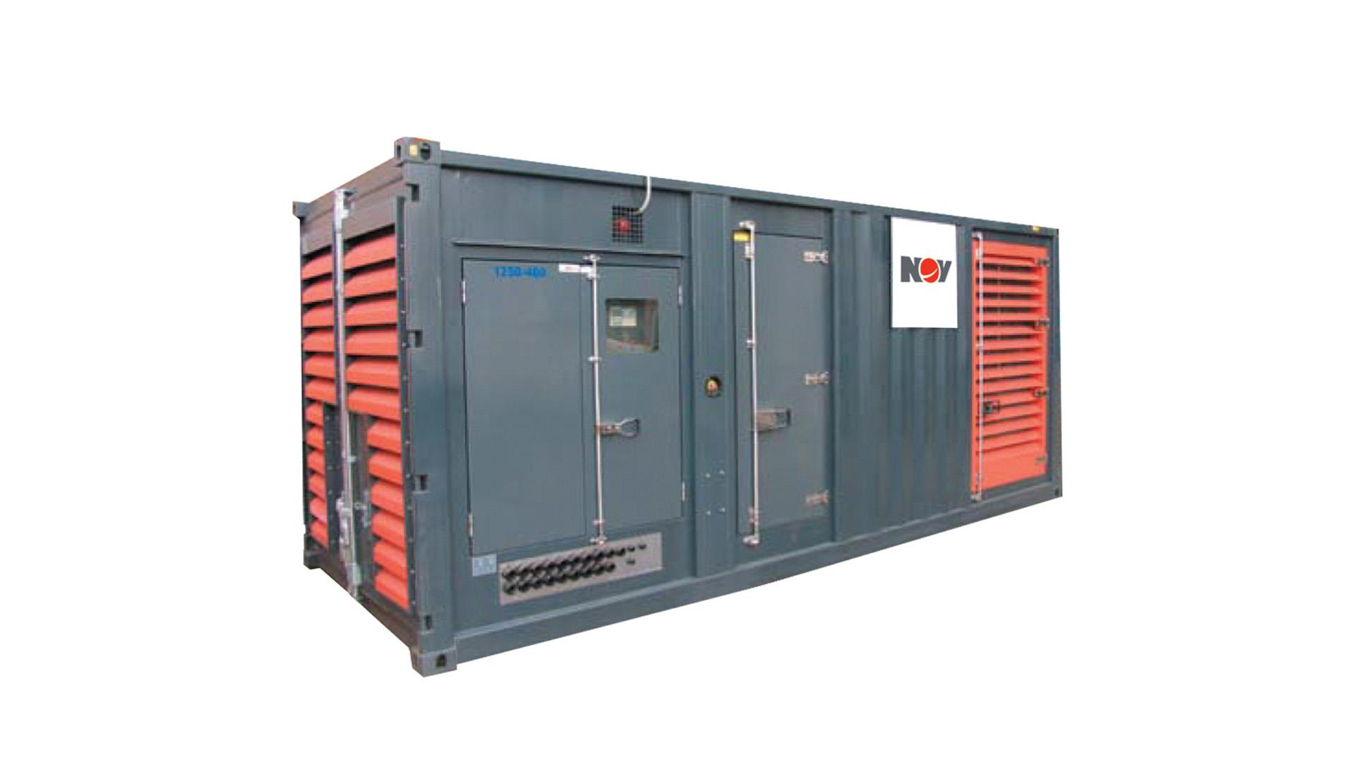 Render of 750  to 2000 kVA Containerized Generator Sets