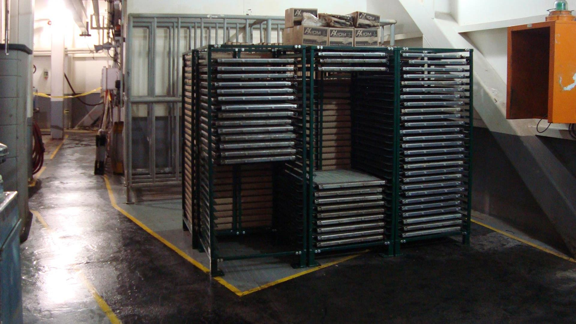 BRANDT Screen Shuttle and Screen Racking System