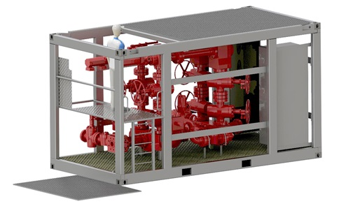 Render of Choke  Manifold 5000D render