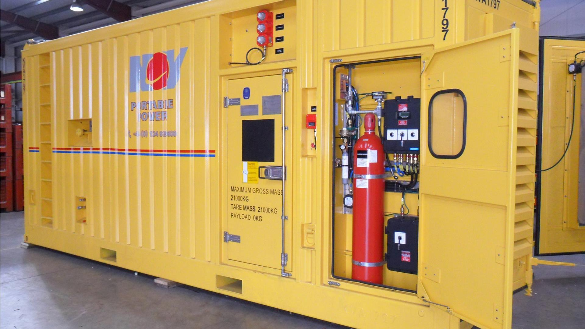 A 1250kVA Rigsafe Diesel Generator for use in on- or offshore production and industrial sites
