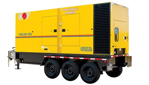 A render of a portable power generator unit