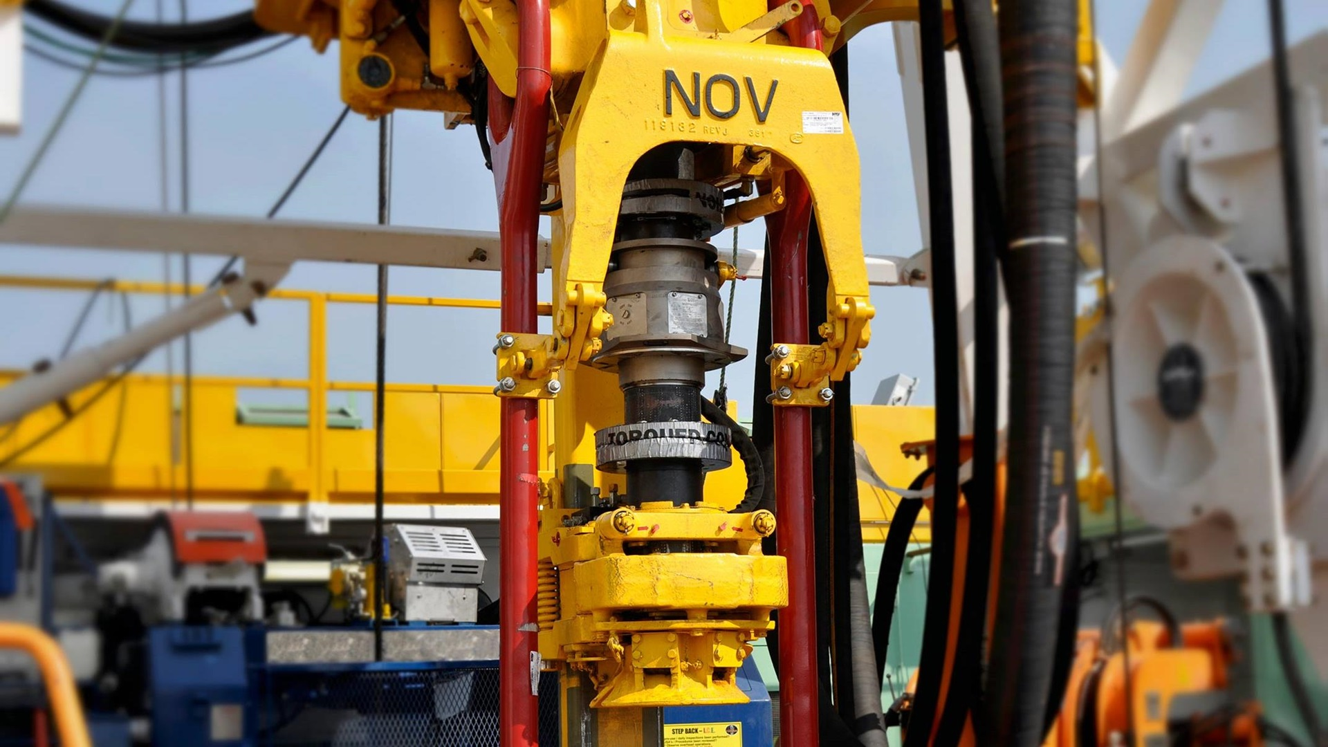 A StringSense Integrated Drill String Measurement System attached to a rig onsite