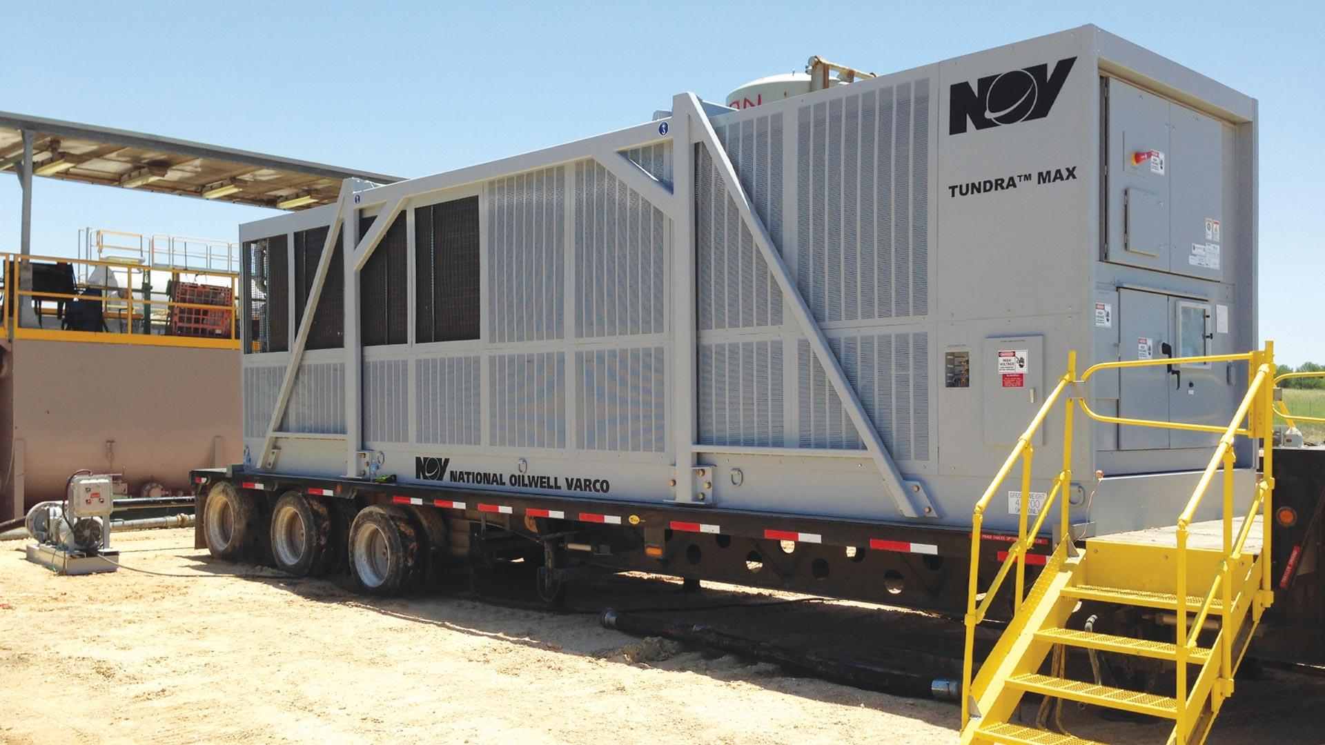 A TUNDRA MAX Onshore Mud Chiller onsite