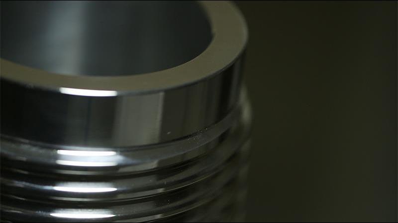 A macro shot of a Grant Prideco connector