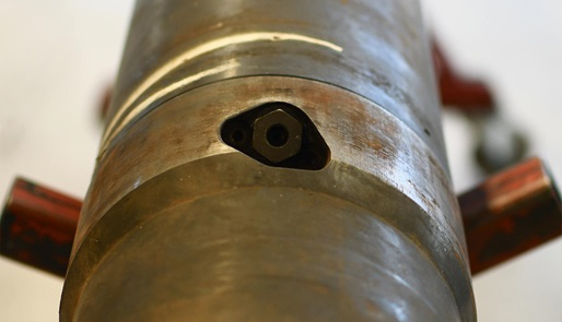 A close up of a portion of an i-Con pipe
